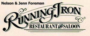 Running Iron Restaurant and Saloon Logo